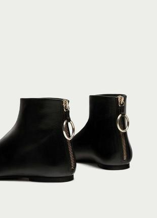 Демисезонные  кожаные ботинки zara оригинал р.38