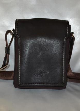 Мужская кожаная сумка gerard henon, оригинал
