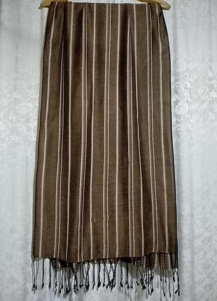 Полосатый шарф палантин 50х186