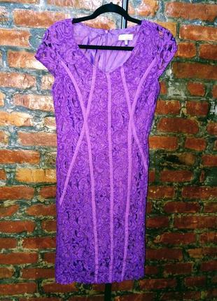 Кружевное платье футляр чехол marks & spenser