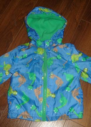 Фирменная minimen куртка на флисе мальчику на год в новом состоянии