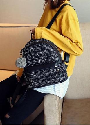 Красивый тканевый рюкзак, рюкзак букле