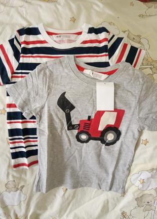 H&m комплект футболок 98/104