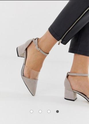 Туфли лодочки босоножки с силиконовой вставкой асос asos