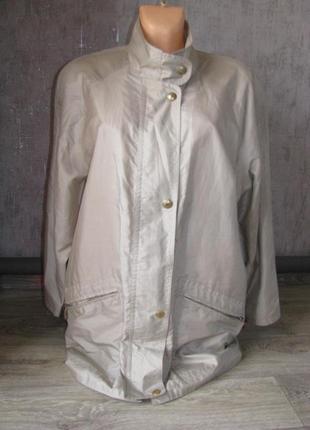 Куртка тонкая l-xl наш 50 р платок в подарок, ветровка женская