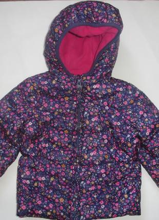 Фирменная mm легкая деми куртка девочке на год-полтора в идеале