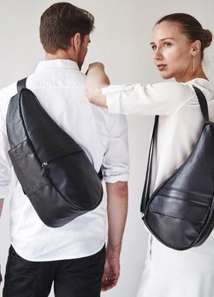 Кожаный рюкзак кожаная сумка/ шкіряна сумка унісекс