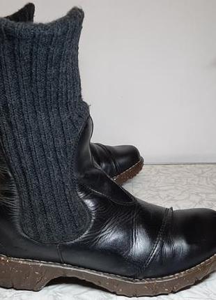 Кожаные сапоги,ботинки el naturalista (эль натуралиста), 41р,стелька26,5см