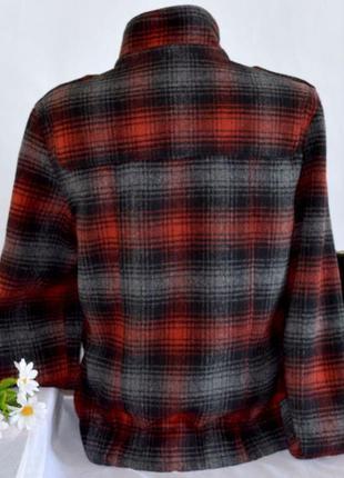 Брендовое демисезонное шерстяное пальто полупальто дафлкот в клетку cedarwood state3 фото