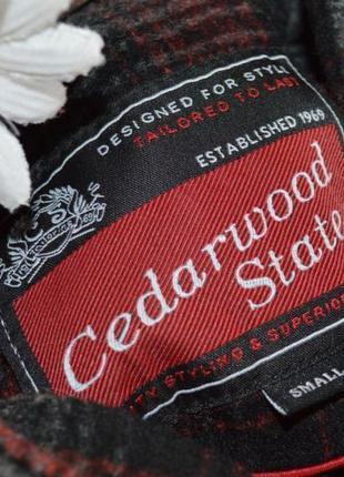 Брендовое демисезонное шерстяное пальто полупальто дафлкот в клетку cedarwood state4 фото