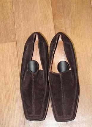 Супер комфортные  manfield замшевые туфли