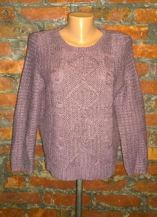 Вязаный свитер пуловер джемпер marks & spencer
