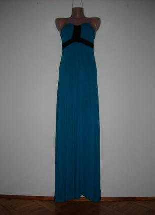 Платье stule синего цвета со вставками черного цвета