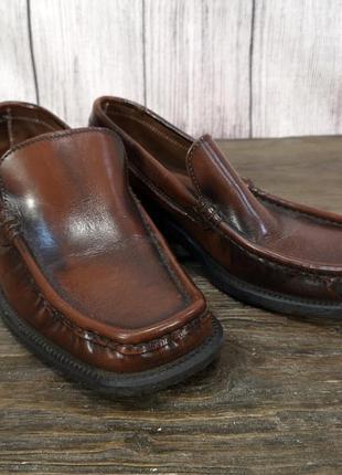 Туфли стильные saxone, кожаные