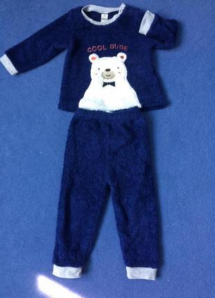 Пижама на мальчика флисовая махровая костюм штаны кофта