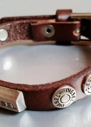 Кожаный браслет diesel.