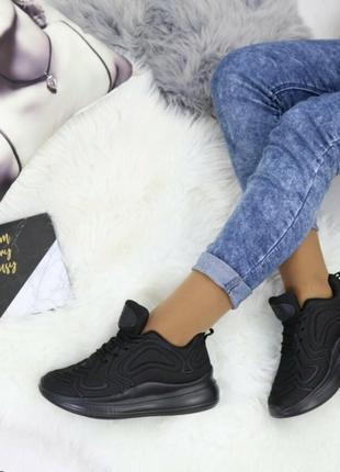 Полностью черные кроссовки! женские мах!