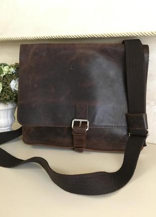 Кожаная сумка кросс боди  сумка мессенджер jost - оригинал германия.