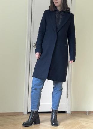 Шерстяное пальто пуховик на подкладке superdry демисезон