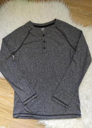 Лонгслив футболка с рукавом h&m хлопок