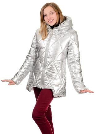 Распродажа куртка металлик silver