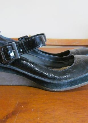 Туфли на танкетке clarks uk6