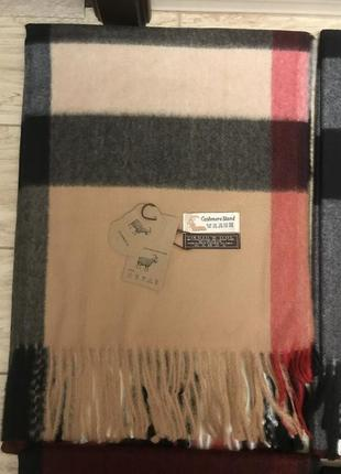 Шерстяной шарф палантин lana virgin wool