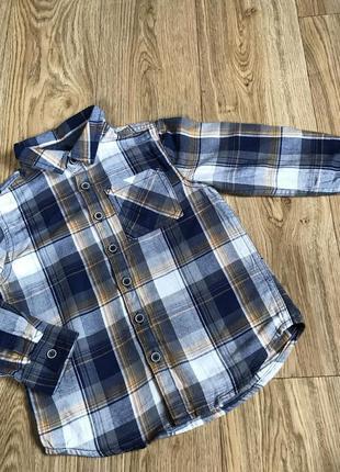 -50% скидка!!! крутая рубашка в клетку на 4-5 лет