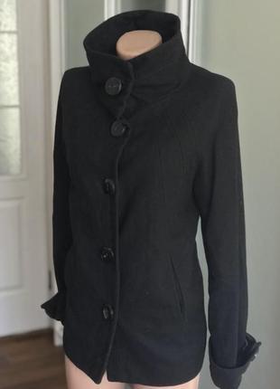 Чёрное базовое пальто на осень 🍂 zara