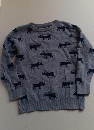 Оригинальный свитерок некст с оленями