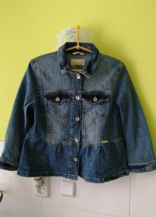 Джинсовая куртка пиджак джинсовка tom tailor