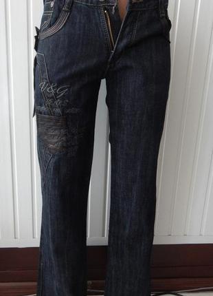 Подростковые стильные темно-синие джинсы турция