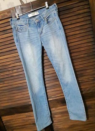 Голубые джинсы- скинни #abercrombie and fitch