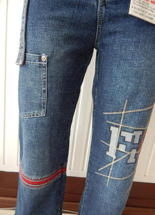 Подростковые стильные синие джинсы турция