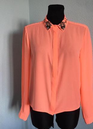 Блузка нарядная рубашка river island размер 12 наш 46 цена 199грн