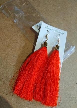 Сережки оранжевые