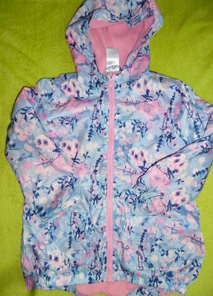 Куртка курточка ветровка с капюшоном яркая дождевик 5-6 лет