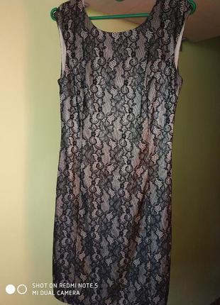 Вечернее кружевное миди-платье от senori
