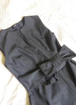 Офисное платье-миди с поясом от öncü