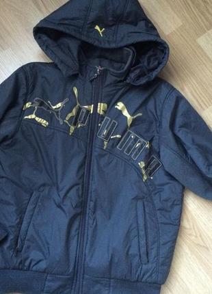 Puma качественная теплая курточка в отличном состоянии