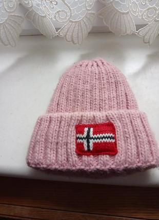 Очень теплая шапка с подкладкой,  оригинал napapijri