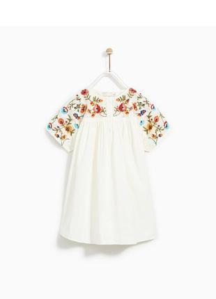 Льняное платье zara girls 122/7