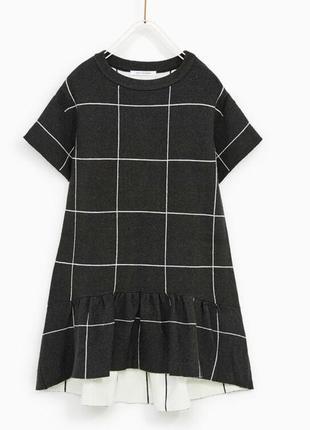 Тёплое платье zara girls