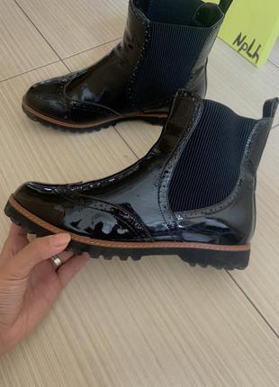 Челси лаковые ботинки натуральная кожа
