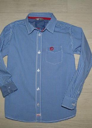 Рубашка в мелкую клетку kids by lindex 8-9 лет