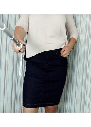 Джинсовая прямая юбка миди tommy hilfiger на 12-14/48-50 размер