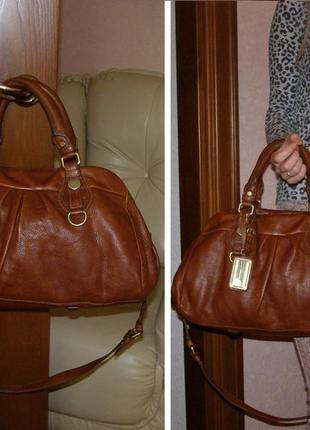 Vip шикарная большая кожаная сумка - 100% натуральная кожа – модельер marc jacobs - 100% оригинал4