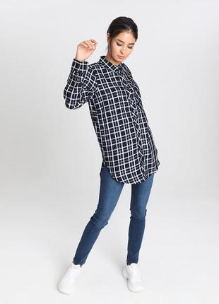 Рубашка блузка чёрная ostin