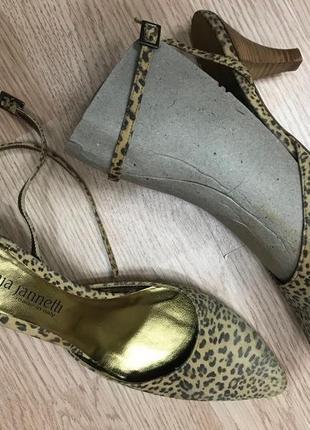 Туфли tanja jannetti босоножки  леопард и золото