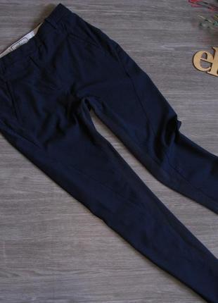Комбинированные брюки в красивом синем цвете eur 34/ 36